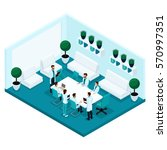 trendy isometric people  a... | Shutterstock .eps vector #570997351