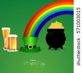 saint patricks day card with... | Shutterstock .eps vector #571003015