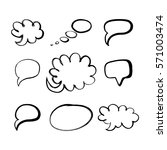 a set of speech bubbles in... | Shutterstock .eps vector #571003474