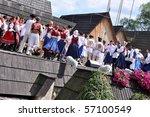 detva  slovakia   july 11 ... | Shutterstock . vector #57100549