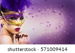 beautiful woman with dramatic... | Shutterstock . vector #571009414
