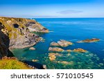 approaching godrevy at the... | Shutterstock . vector #571010545