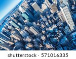 skyscrapers of manhattan  new... | Shutterstock . vector #571016335