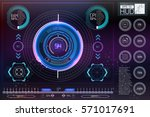 hud background outer space.... | Shutterstock .eps vector #571017691