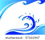 water wave card | Shutterstock .eps vector #57101947