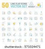 vector graphic set of simple... | Shutterstock .eps vector #571024471