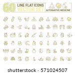 vector graphic set.icons in... | Shutterstock .eps vector #571024507