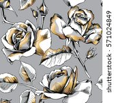 seamless pattern with image of... | Shutterstock .eps vector #571024849