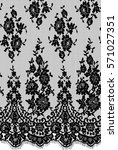 seamless black vector lace... | Shutterstock .eps vector #571027351