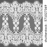 seamless white vector lace... | Shutterstock .eps vector #571027369