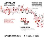 color music notes on a solide... | Shutterstock .eps vector #571037401
