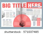 creative newspaper design  with ... | Shutterstock .eps vector #571037485