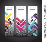 banners set  trendy geometric... | Shutterstock .eps vector #571038481