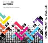 trendy geometric flat pattern ... | Shutterstock .eps vector #571038631