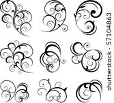 vector decorative swirling... | Shutterstock .eps vector #57104863