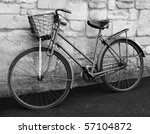 Vintage Bicycle In Black And...
