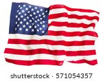 textile ruffled american flag... | Shutterstock . vector #571054357
