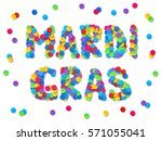 vector rainbow colors confetti... | Shutterstock .eps vector #571055041