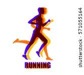 running mar people run  health... | Shutterstock .eps vector #571055164
