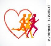 running mar people run  health... | Shutterstock .eps vector #571055167