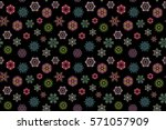 winter card merry christmas ... | Shutterstock . vector #571057909
