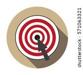 target. icon. flat design.   Shutterstock .eps vector #571063321