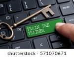 closed up finger on keyboard... | Shutterstock . vector #571070671