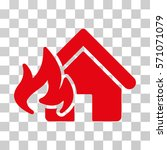 fire damage icon. vector... | Shutterstock .eps vector #571071079