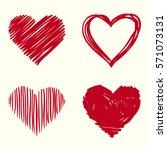 red heart | Shutterstock .eps vector #571073131