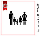 family graphic design   vector... | Shutterstock .eps vector #571073407