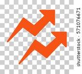 trends icon. vector... | Shutterstock .eps vector #571076671