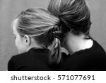 mother and daughter hair... | Shutterstock . vector #571077691