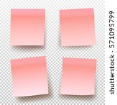 set of pink sticky note... | Shutterstock .eps vector #571095799