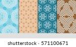 creative set of decorative... | Shutterstock .eps vector #571100671