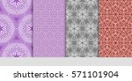 set of borders with repeating... | Shutterstock .eps vector #571101904