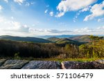 Skyline of The Blue Ridge Mountains in Virginia at Shenandoah National Park During High Fall Color