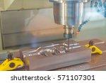high precision cnc machining...   Shutterstock . vector #571107301