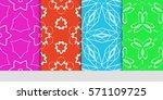 creative set of decorative...   Shutterstock .eps vector #571109725
