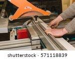 men at work sawing wood....   Shutterstock . vector #571118839