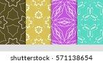 set of flower  geometric...   Shutterstock .eps vector #571138654