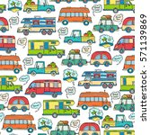 vector seamless pattern with... | Shutterstock .eps vector #571139869