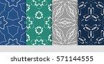 set of linear geometric...   Shutterstock .eps vector #571144555