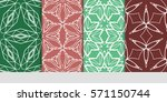 set of color floral  linear...   Shutterstock .eps vector #571150744