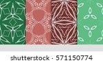 set of flower  geometric...   Shutterstock .eps vector #571150774