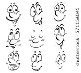 different facial expressions of ... | Shutterstock .eps vector #571156045