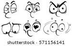 different human facial... | Shutterstock .eps vector #571156141