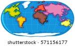 world atlas with seven...   Shutterstock .eps vector #571156177