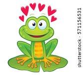 valentine's day frog | Shutterstock .eps vector #571156531
