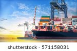 logistics and transportation of ... | Shutterstock . vector #571158031