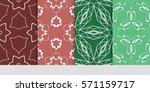 set of flower  geometric...   Shutterstock .eps vector #571159717